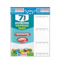 Evrensel İletişim Yayınları - Evrensel İletişim Yayınları 7. Sınıf Matematik Konu Özetli Yaprak Test