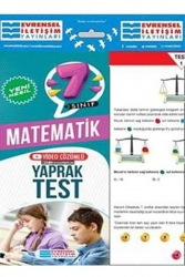 Evrensel İletişim Yayınları - Evrensel İletişim Yayınları 7. Sınıf Matematik Yeni Nesil Video Çözümlü Yaprak Test