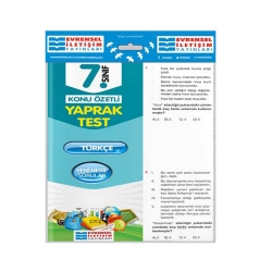 Evrensel İletişim Yayınları - Evrensel İletişim Yayınları 7. Sınıf Türkçe Konu Özetli Yaprak Test
