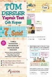 Faktör Yayınları - Faktör Yayınları 7. Sınıf Tüm Dersler Yaprak Test Çek Kopar