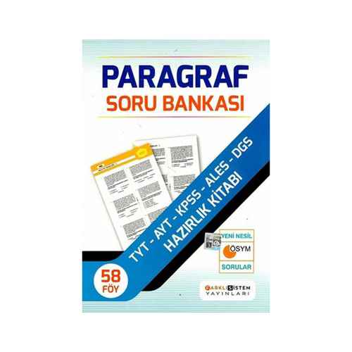 Farklı Sistem Yayınları Paragraf Soru Bankası