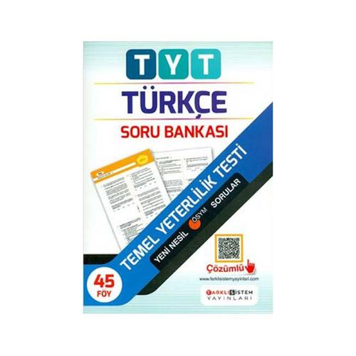 Farklı Sistem Yayınları TYT Türkçe Soru Bankası