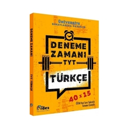 Fides Yayınları - Fides Yayınları TYT Türkçe 40×15 Deneme Zamanı