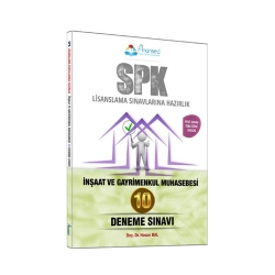 Finansed Yayınları - Finansed Yayınları SPK İnşaat ve Gayrimenkul Muhasebesi Çözümlü 10 Deneme Sınavı
