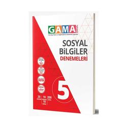 Gama Yayınları - Gama Okul Yayınları 5. Sınıf Sosyal Bilgiler Denemeleri