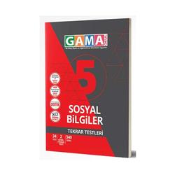 Gama Yayınları - Gama Okul Yayınları 5. Sınıf Sosyal Bilgiler Tekrar Testleri