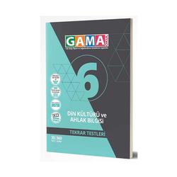 Gama Yayınları - Gama Okul Yayınları 6. Sınıf Din Kültürü ve Ahlak Bilgisi Tekrar Testleri