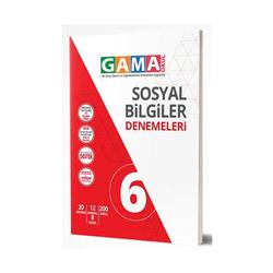 Gama Yayınları - Gama Okul Yayınları 6. Sınıf Sosyal Bilgiler Denemeleri