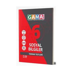 Gama Yayınları - Gama Okul Yayınları 6. Sınıf Sosyal Bilgiler Tekrar Testleri