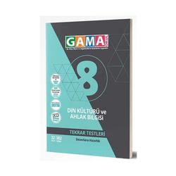 Gama Yayınları - Gama Okul Yayınları 8. Sınıf Din Kültürü ve Ahlak Bilgisi Tekrar Testleri