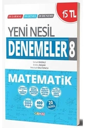 Gama Okul Yayınları - Gama Okul Yayınları 8. Sınıf Matematik Yeni Nesil Denemeler