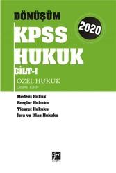 Gazi Kitabevi - Gazi Kitabevi 2020 KPSS Dönüşüm Özel Hukuk Çalışma Kitabı Cilt 1