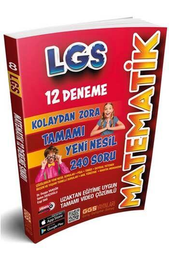 GGS Yayınları - GGS Yayınları 8. Sınıf LGS Matematik 12 Deneme