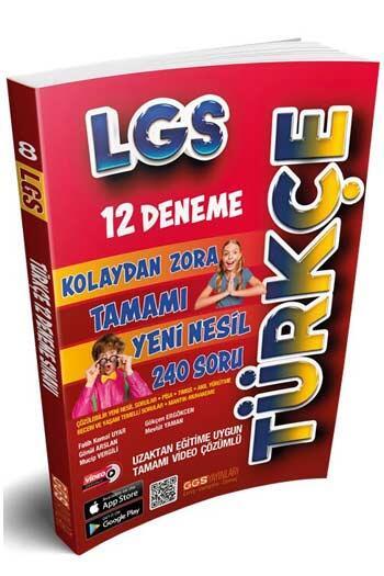 GGS Yayınları - GGS Yayınları 8. Sınıf LGS Türkçe 12 Deneme