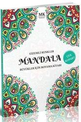 Mavi Kalem Yayınları - Gizemli Renkler Büyükler İçin Boyama Kitabı Mandala MK Mavi Kalem Yayınları