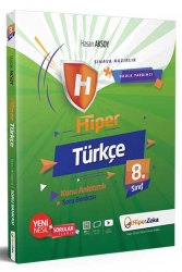 Hiper Zeka Yayınları - Hiper Zeka 8. Sınıf Hiper Türkçe Konu Anlatımlı Soru Bankası