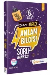 Hiper Zeka Yayınları - Hiper Zeka 8. Sınıf Zümre Türkçe Anlam Bilgisi Soru Bankası Yeni Nesil
