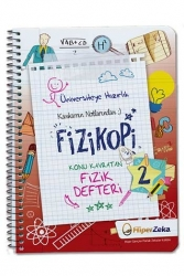Hiper Zeka Yayınları - Hiper Zeka Üniversiteye Hazırlık Konu Kavratan AYT Fizik 2 Defteri Fizikopi