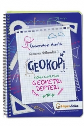 Hiper Zeka Yayınları - Hiper Zeka Üniversiteye Hazırlık Konu Kavratan TYT AYT Geometri Defteri Geokopi