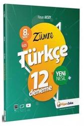 Hiper Zeka - Hiper Zeka Yayınları 8. Sınıf LGS Zümre Türkçe 12 Deneme