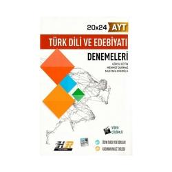 Hız ve Renk Yayınları - Hız ve Renk Yayınları AYT Türk Dili ve Edebiyatı 20×24 Denemeleri