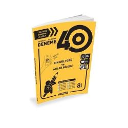 Hız Yayınları - Hız Yayınları 8. Sınıf LGS Din Kültürü ve Ahlak Bilgisi 40 Deneme