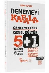 Hoca Kafası Yayınları - Hoca Kafası Yayınları 2021 KPSS Genel Yetenek Genel Kültür Denemeyi Kafala Çözümlü 5+1 Deneme