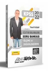 Hocawebde Yayınları - Hocawebde 2022 KPSS Eğitim Bilimleri Ölçme ve Değerlendirme Tamamı Çözümlü Soru Bankası
