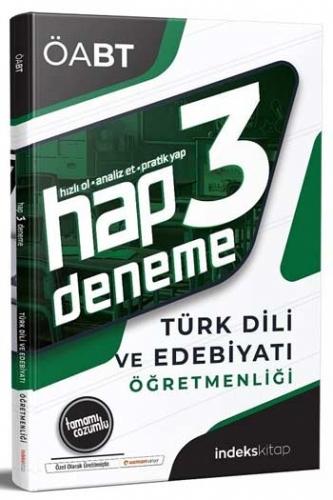 İndeks Kitap 2020 ÖABT Türk Dili ve Edebiyatı Öğretmenliği Hap Çözümlü 3 Deneme