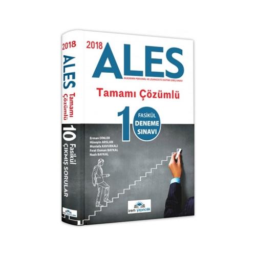 İrem Yayıncılık 2018 ALES Tamamı Çözümlü 10 Fasikül Deneme Sınavı