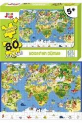Joho Toys - Joho Toys Kocaman Dünya 80 Parça Puzzle