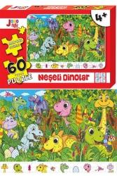 Joho Toys - Joho Toys Neşeli Dinolar 60 Parça Puzzle