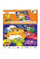 Joho Toys - Joho Toys SEVİMLİ CANAVARLAR 80 Parça 5+ YAŞ Puzzle