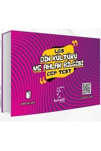 Karekök Yayınları 8. Sınıf LGS Din Kültürü ve Ahlak Bilgisi Cep Test
