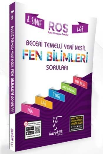 Karekök Yayınları - Karekök Yayınları 8. Sınıf LGS Fen Bilimleri ROS Beceri Temelli Yeni Nesil Soru Bankası