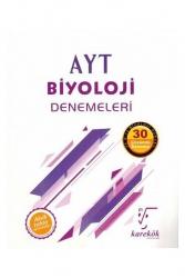 Karekök Yayınları - Karekök Yayınları AYT Biyoloji 30 Çözümlü Deneme