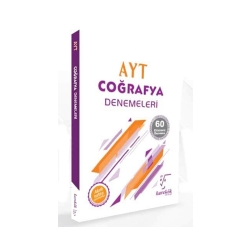 Karekök Yayınları - Karekök Yayınları AYT Coğrafya Çözümlü 60 Deneme