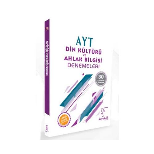 Karekök Yayınları AYT Din Kültürü ve Ahlak Bilgisi Çözümlü 30 Deneme