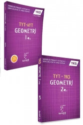 Karekök Yayınları - Karekök Yayınları YKS TYT Geometri Konu Anlatımı 1. ve 2. Kitap Seti