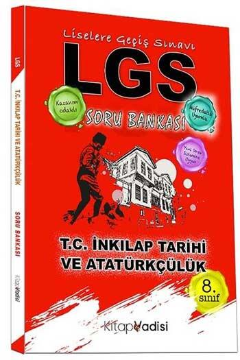 Kitap Vadisi Yayınları - Kitap Vadisi Yayınları 8. Sınıf LGS T.C. İnkılap Tarihi ve Atatürkçülük Soru Bankası