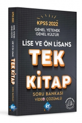 KR Akademi - KR Akademi 2022 KPSS Lise Ön Lisans Genel Yetenek Genel Kültür Tek Kitap Soru Bankası