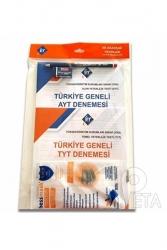 KR Akademi - KR Akademi Türkiye Geneli Optikli TYT AYT 2 li Deneme Seti (Optik, Kalem, Silgi, Maskeli Set)