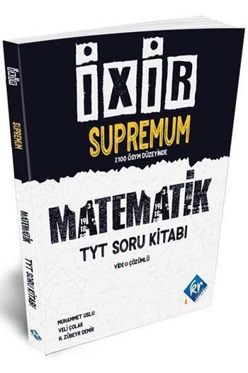 KR Akademi - KR Akademi TYT Matematik İxir İnfimum Video Çözümlü Soru Kitabı