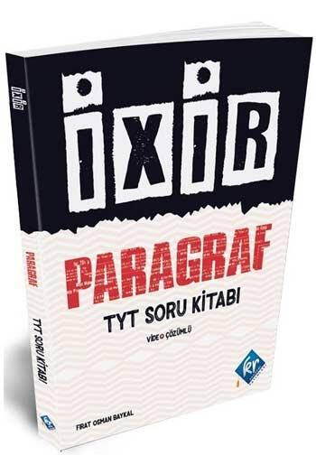 KR Akademi - KR Akademi TYT Paragraf İxir Video Çözümlü Soru Kitabı