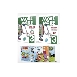 Kurmay ELT - Kurmay ELT More and More English 3 Practice Book Workbook + 3 Hikaye Kitabı