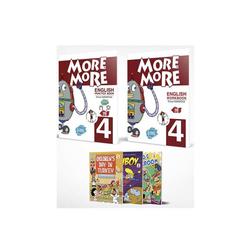 Kurmay ELT - Kurmay ELT More and More English 4 Practice Book Workbook + 3 Hikaye Kitabı