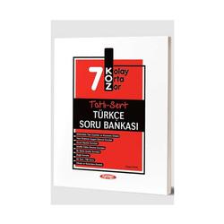 Kurmay Okul Yayınları - Kurmay Okul Yayınları 7. Sınıf Türkçe KOZ Tatlı Sert Soru Bankası