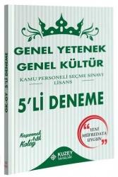 Kuzey Akademi Yayınları - Kuzey Akademi Yayınları 2020 KPSS Genel Yetenek Genel Kültür 5 Deneme