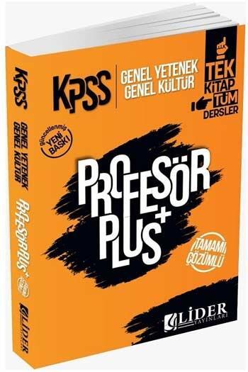 Lider Yayınları - Lider Yayınları 2021 KPSS Genel Yetenek Genel Kültür Profesör Plus Çözümlü Soru Bankası