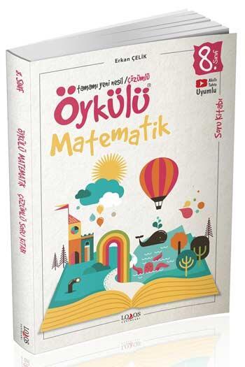 Lodos Yayınları - Lodos Yayınları 8. Sınıf Öykülü Matematik Çözümlü Soru Kitabı